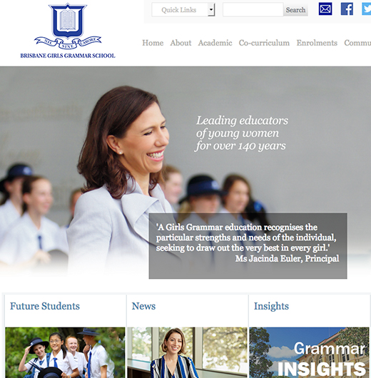 brisbane girls grammar school case study website design and development