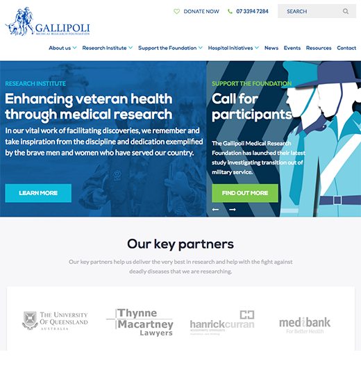 gallipoli medical research foundation case study website development project for a not-for-profit organisation