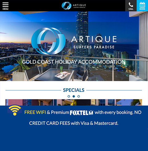 Artique Surfers Paradise case study report ux design tourism and marine website solutions