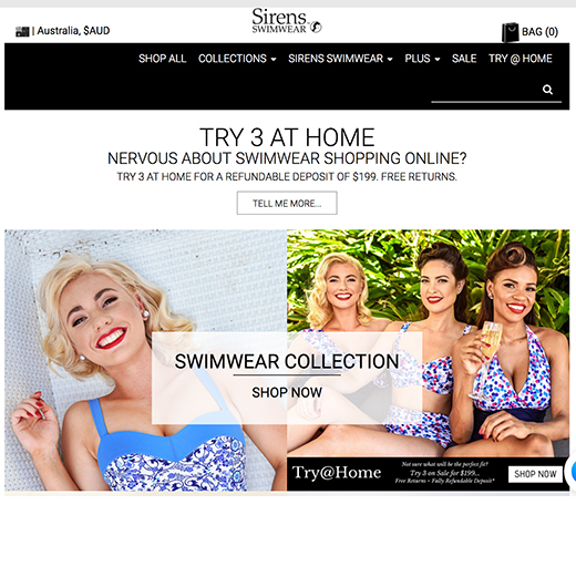 Sirens case study e-commerce site
