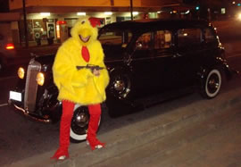 Chris Garrett as a Chicken Gangster