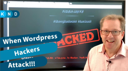 Opening screen of the video about website hackers