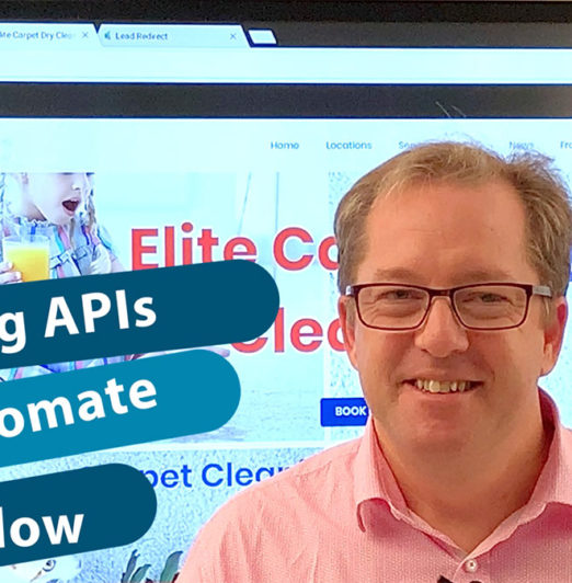 Opening screen for Website API video