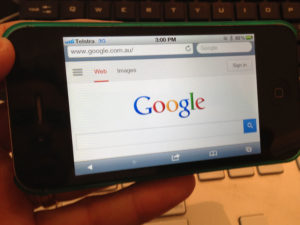 Google on iPhone