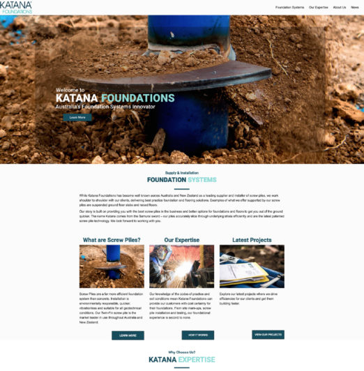 katana foundations website project