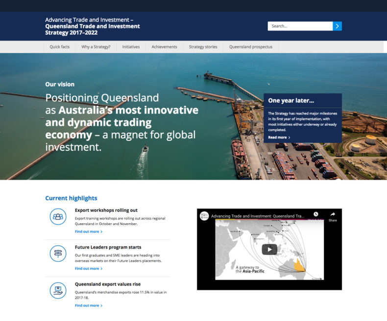 TIQ Microsite web design and development for new strategy and initiatives